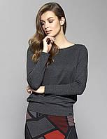 Женская трикотажная блуза Eris Zaps цвета графит. Коллекция осень-зима
