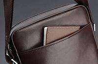 Мужская кожаная сумка. Модель 61164, фото 4