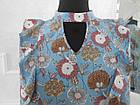 Блуза жіноча шовкова голуба в кольорах великого розміру 50, фото 2