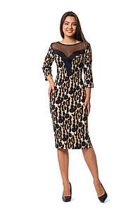 Платье Даниела 0257_4 Леопардовое