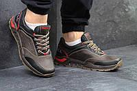 Мужские кожаные кроссовки Merrell коричневые - 150-1461