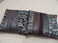 Комплект подушек Рельеф серебро и бордо , 2 шт, фото 1