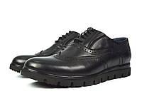 Черные кожаные туфли-броги мужские Mitro для повседневной носки ( новинка весна, осень, лето )