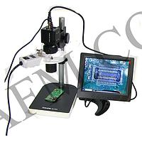 """Видеомикроскоп с монитором 8"""" BAKU BA- 003 (подсветка люминесцентная,   фокус 30- 156 мм,   кратност"""