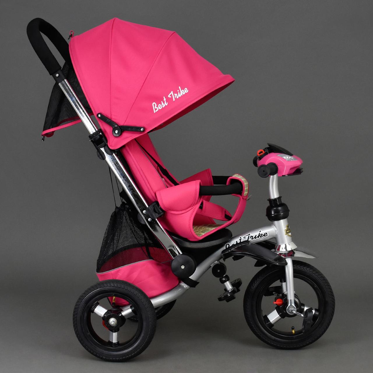 Детский трехколесный велосипед Best Trike 698 Розовый, надувные колеса