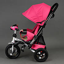 Детский трехколесный велосипед Best Trike 698 Розовый, надувные колеса , фото 3