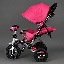 Детский трехколесный велосипед Best Trike 698 Розовый, надувные колеса , фото 2