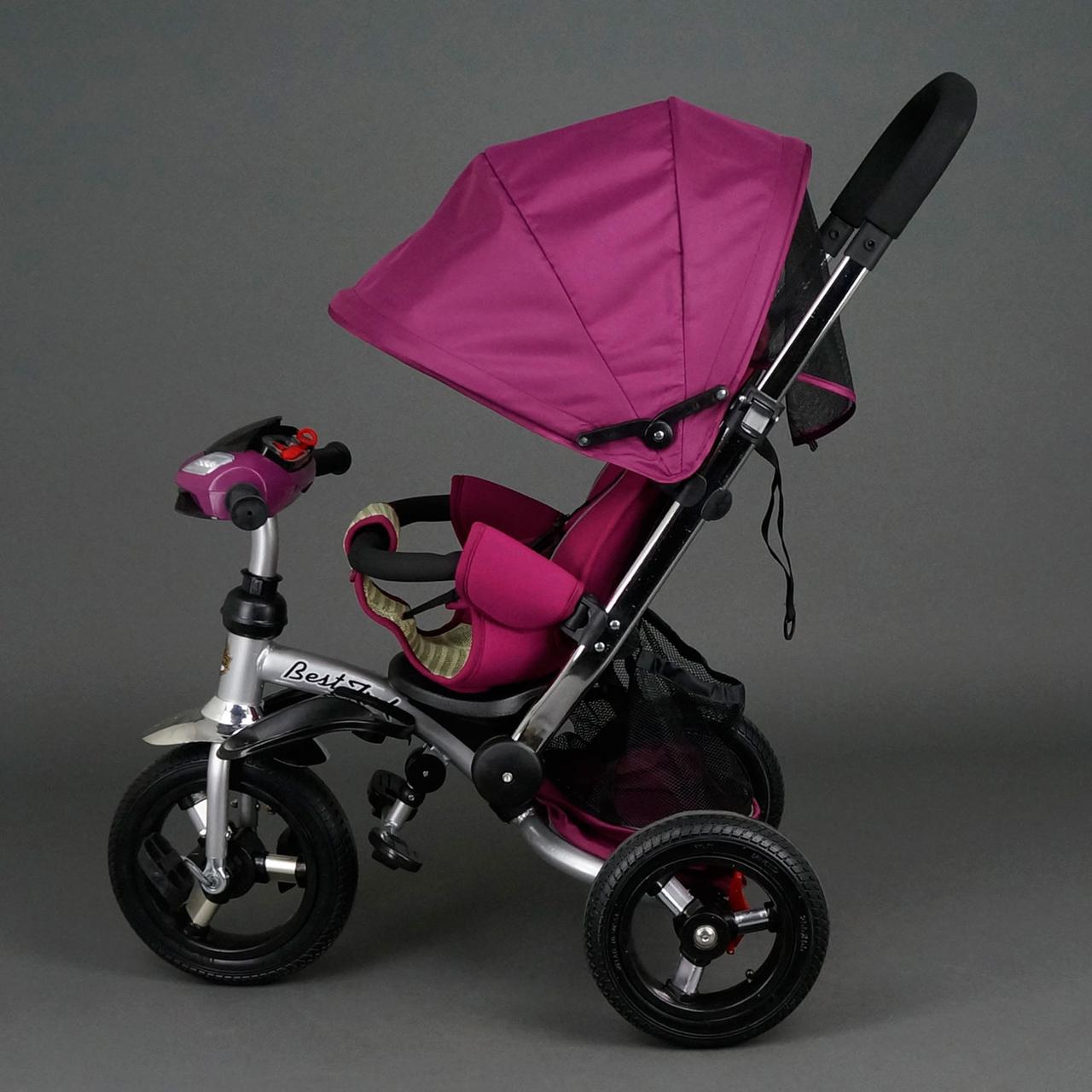 Детский трехколесный велосипед Best Trike 698 Фиолетовый, надувные колеса