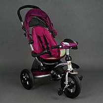 Детский трехколесный велосипед Best Trike 698 Фиолетовый, надувные колеса , фото 3
