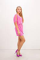 Платье фуксия 2в1 с поясом