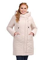 Короткая куртка женская с брошью, батал, фото 1