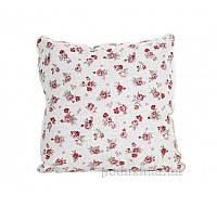 Подушка декоративная Прованс Классик Red Rose с кружевом 40х40 см