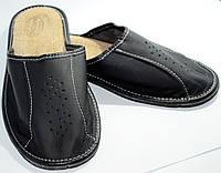 Домашние мужские кожаные тапочки , фото 1