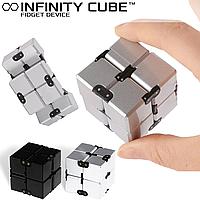 Анти-стресс кубик бесконечности игрушка Infinity Cube Инфинити Куб синий, черный, белый, сталь