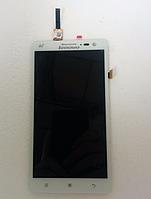 Оригинальный дисплей (модуль) + тачскрин (сенсор) для Lenovo S856 (белый цвет)