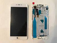 "Дисплей+каркас Meizu M5 Note White  ""ORIG"" (модуль+рамка) в Украине !"