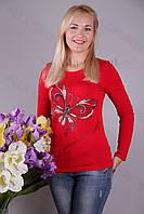 Блуза-туника трикотажная 407-осн700-113 норма оптом от производителя Украина