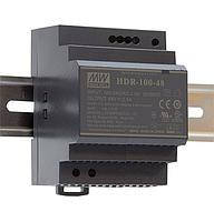 HDR-100-24N Блок питания Mean Well 100.8вт, 24в, 4,2А на Din-рейку