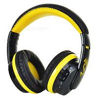 Наушники bluetooth VYKON MX666  Черно-желтые