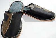 Домашние мужские кожаные тапочки, 40 размер