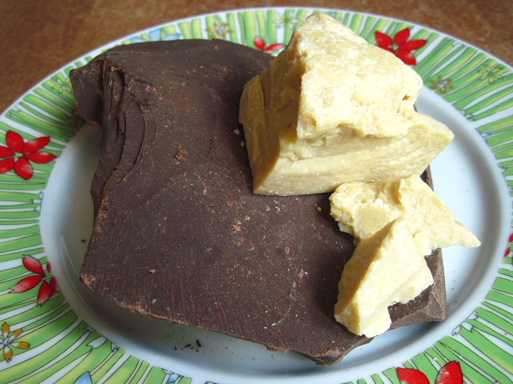 Какао-масло и Какао-тёртое для приготовления 100% натурального шоколада.