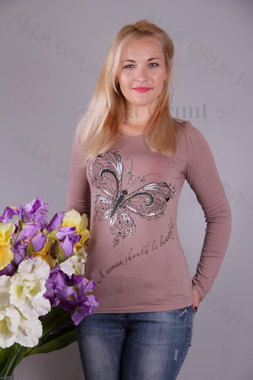 Блуза-туника трикотажная 428-осн700-113 норма оптом от производителя Украина