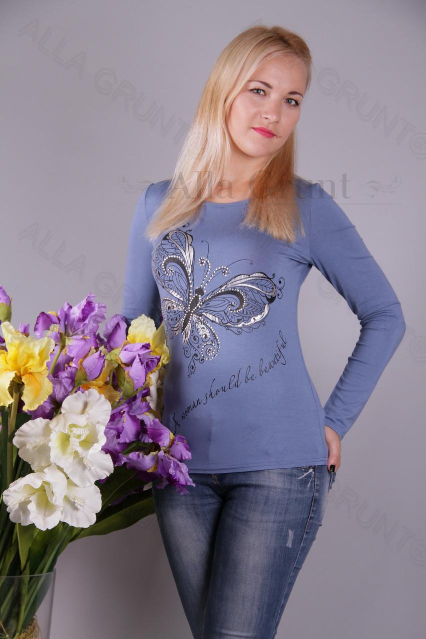 Блуза-туника трикотажная 439-осн700-113 норма оптом от производителя Украина