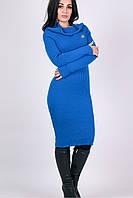 Яркое вязанное платье Ксюша электрик