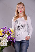Блуза-туника трикотажная 406-осн700-113 норма оптом от производителя Украина