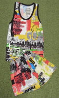 Детский комплект для мальчика майка с шортами