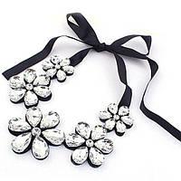 Съемный воротник ожерелье Цветы