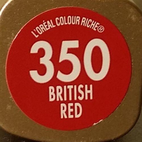 L'Oréal Paris Colour Riche British Red №350