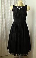 Платье черное нарядное кружево Swing р.42-44 7605