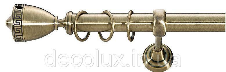 Карниз для штор однорядный металлический 25 мм, Афина (комплект)