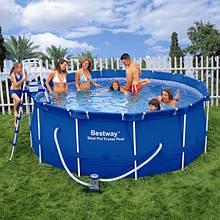 Каркасный бассейн ProFramePool 366 x 122 см Bestway 56088 фильтрующий насос + аксессуары