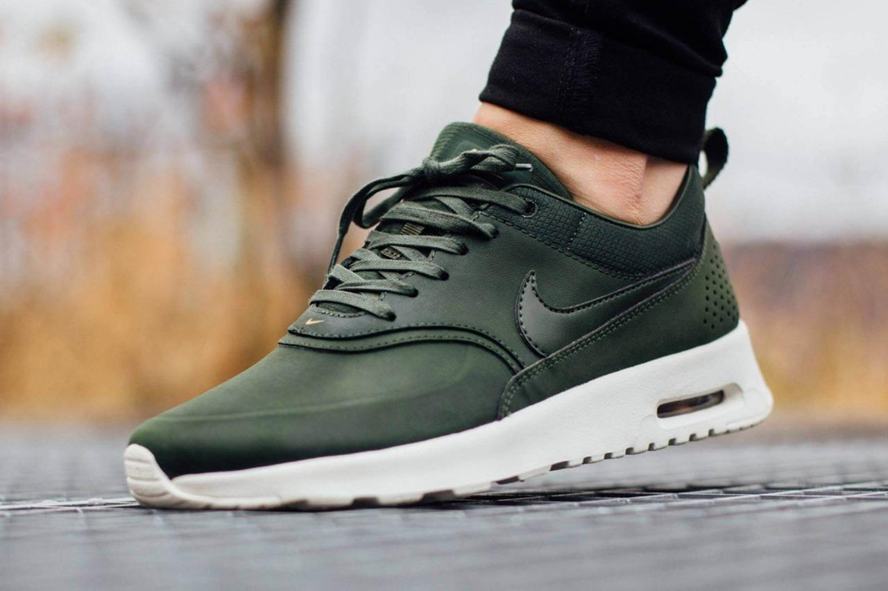Nike Air Max Thea Carbon Green. Качественные кроссовки. Стильные кроссовки.