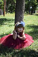 Платье на девочку пышное бордо