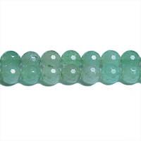 Зелёный Авантюрин Грань, Натуральный камень, 8 мм, Граненый Шар, Отверстие 1 мм, кол-во: 47-48 шт/нить