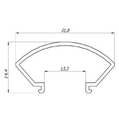 """Рассеиватель РСК """"Круг"""" матовый поликарбонат (за 1м) Код.57812, фото 2"""