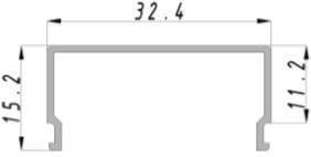 """Торцевая заглушка ЗСП """"Прямоугольник"""" (1шт) Код.57823, фото 2"""