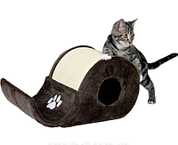 "Trixie Когтеточка-волна ""Elda"" с домиком для кошки, 48х27x24см"
