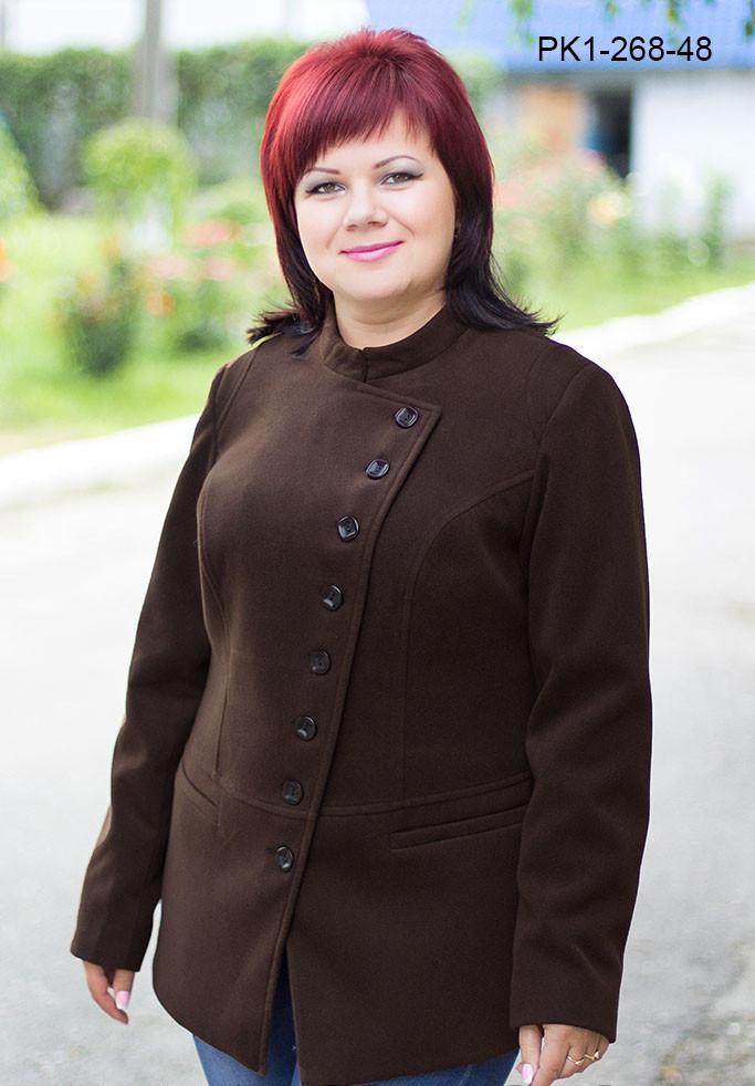 / Розмір 44,46,48,50,52 / Жіночий жакет з кашеміру приталеного силуету колір коричневий