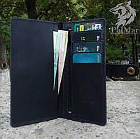 """Чоловічий портмоне мужской кожаный портмоне """"Тwice2"""" ручної роботи, натуральна шкіра, на кнопці, фото 1"""