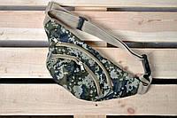 Молодежная поясная сумка/бананка камуфляж/пиксель