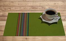 Салфетка на стол под посуду   30см*45см, серветка під посуд Радуга
