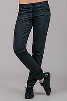 Серые спортивные штаны женские брюки трикотажные с карманами, на резинке (манжет) Украина