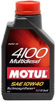 Моторное масло Motul 4100 MULTIDIESEL 10W-40, 1L