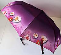 """Зонт женский полуавтомат с цветочным рисунком от фирмы """"Flagman""""."""