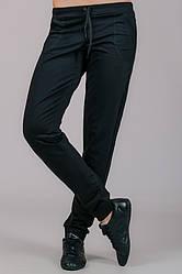 Черные спортивные штаны женские брюки трикотажные с карманами, на резинке (манжет)Украина