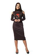 Платье Роза 0282_4 Коричневое